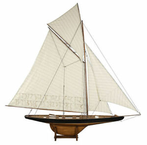 America S Cup 1901 Columbia Sailboat 68 Built Xlarge Wood Model Yacht