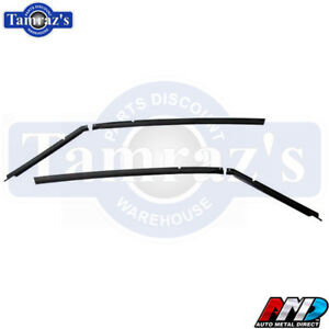 70 74 Barracuda Cuda Roof Panel Drip Rail Channel Set Amd
