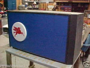Mobil Gas Station Topper Sign Pegasus Man Cave Mobil Oil Gas From 1995
