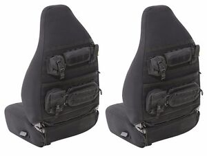 Smittybilt Gear Molle Front Seat Covers Pouches For 03 06 Jeep Wrangler Tj Lj