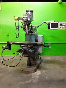1996 Bridgeport Ez Track Cnc Milling Machine 2 Axis Lcd Monitor 9 X48 Table 2 Hp