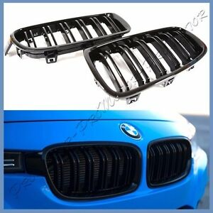 For 12 16 Bmw F30 F31 320i 328i 335i Sedan M Type Gloss Black Front Grille Set