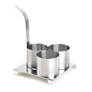 Stainless Steel Round Triple Mini Funnel Cake Mold Ring
