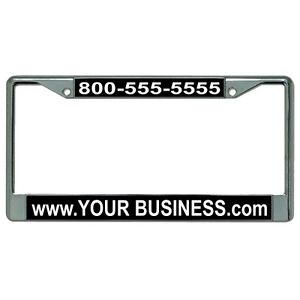 Custom Personalized Engraved Chrome License Plate Frame Metal High Quality Frame