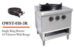 L j Owst 018 3r Single Ring Burner 16 Chinese Wok Range