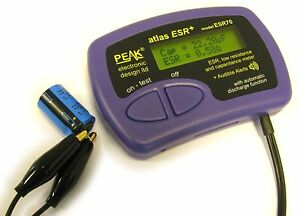 Peak Atlas Esr70 Digital Low Resistance And Capacitance Meter Audible Alerts