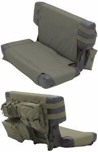Smittybilt Gear Molle Rear Seat Cover And Pouches For 76 06 Jeep Cj And Wrangler