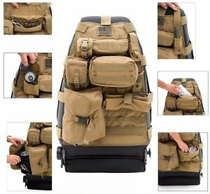 Smittybilt Gear Molle Front Seat Cover And Pouches For 76 06 Jeep Cj