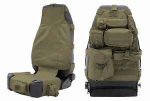 Smittybilt Gear Molle Front Seat Cover Pouches For 2007 2018 Jeep Wrangler Jk