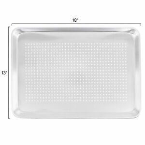 12 pack Choice 18 X 13 Perforated Half Size Aluminum Sheet Pans