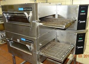 Lincoln Impinger Double Stack Pizza Oven model 1116 000 a