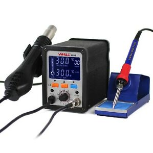 2 In1 720w Yihua 995d Lcd Smd Rework Station With Soldering Iron 220v New