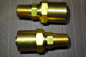 Reusable Hose End Solid Fits Hose 5 8in Od 3 8in Id 1 4in Npt Amflo 620 Qt 2ea