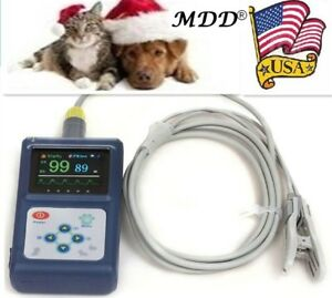 Fda Cms60d Vet Veterinary Fingertip Pulse Oximeter Spo2 Blood Oxygen Monitor Usa