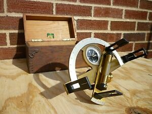 Antique Graphometer Or Semi circumferentor Survey Equipment