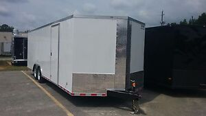 8 5x24 Enclosed Cargo Trailer V nose Utility Motorcycle Atv Lawn 10 Landscape