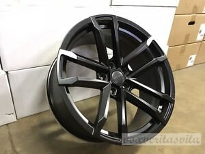 20 Zl1 Style Staggered Wheels Rims Matte Black Fits Chevy Camaro Lt Ls Ss Rs