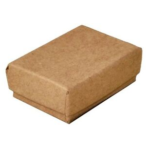 100 Small Kraft Cotton Fill Jewelry Packaging Gift Boxes 2 1 8 X 1 1 2 X 5 8