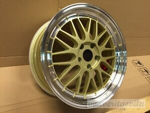 18 Staggered Gold Wheels Rims Lm Style Fits Bmw 323 325 328i 330 335i