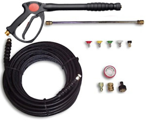 Deluxe Pressure Washer Spray Gun Wand 50 Hose Tips 4000psi Fits Hotsy