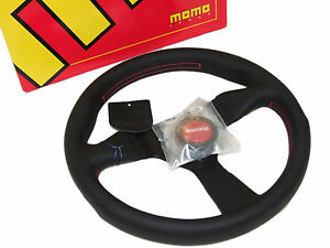 Momo Steering Wheel Monte Carlo 320mm leather red Stitch Horn black Spoke
