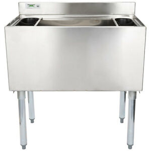 18 X 30 Underbar Stainless Steel Restaurant Bar Ice Bin 98 Lb Ice Capacity