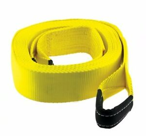 Smittybilt Double Stitched 40 000 Lb 4 Inch X 8 Foot Recovery Tow Strap Cc408
