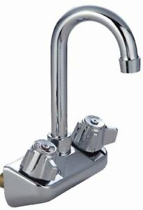 Commercial Stainless Steel Gooseneck Faucet For Hand Sink