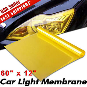 Universal 12 X60 Golden Yellow Headlight Tailight Fog Light Tint Film Vinyl Us