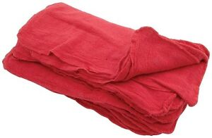 1000 Industrial Shop Rags Cleaning Towels Red Large 14 x13 Commercial Towels