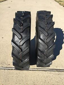 Two 7 16 7x16 Compact Tractor Farm Tires Heavy Duty Ag R 1 Superlug 6 Ply