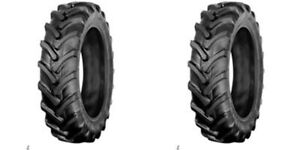 Two 7 16 7x16 Backhoe Compact Tractor Farm Tires Ag R 1 Lug 6 Ply Heavy Duty