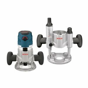 Bosch Mrc23evsk 2 3 Hp Combination Plunge And Fixed base Router Pack