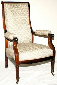 Library Lolling Chair Mahogany Mobile Al Provenance 39t Sheraton C1820