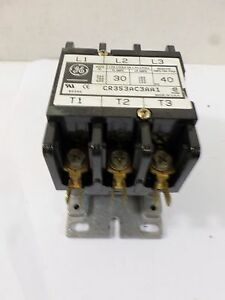 General Electric Contactor 30 Amp Cat Cr353ac3aa1