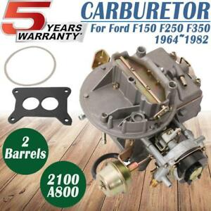 New Two 2 Barrel Carburetor Carb 2100 800 For Ford 289 302 351 Cu Jeep Engine