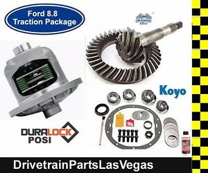 Ford Mustang V8 8 8 Duralock Posi Package Gears Master Kit 28 Spline 4 10 Ratio