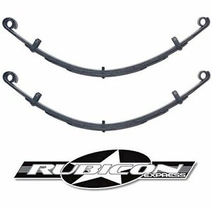 Rubicon Express Extreme Duty Front Leaf Springs 4 5 Lift For 1976 1986 Jeep Cj