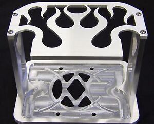 75 35 25 Billet Optima Battery Hold Down tray box Mopar ford chevy Car Show