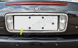 2000 2001 2002 Cadillac Deville Dts Dhs Stainless Rear License Plate Insert Trim