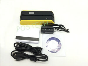 Msr09 X6 Magnetic Strip Swipe Credit Card Reader Writer Yellow Mini300 Bundle