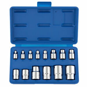Female Torx Socket Set 14pc E Star External Bit Kit 1 4 3 8