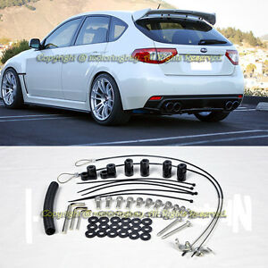 For 08 14 Subaru Impreza Sti 11 14 Wrx Hatch 3dr Rear Spoiler Lip Wing Riser Kit