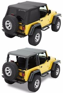 Bestop Trektop Nx Sunrider Soft Top Kit W Hardware 97 06 Jeep Wrangler Tj Black