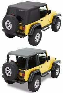 Bestop Trektop Nx Combo Soft Top Kit W Hardware 97 06 Jeep Wrangler Tj Black