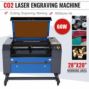 Co2 Laser Engraver Cutter 60w 28 x20 Cutting Engraving Marking Machine Updated