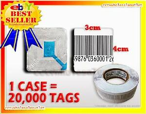 20 000 Checkpoint Compatible Barcode Label Tag 8 2mhz 3cm X 4cm Fake Barcode