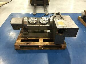 5 Axis Nikken Cnc Rotary Table 5ax 2mt 200 250fa Tilt W Hydraulic Brake Fanuc