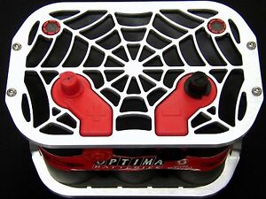 34 78 Web Billet Optima Battery Tray box hold Down Marine stereo race Car boat