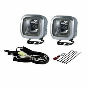 2 X Piaa Cube 60w Xtreme White Driving Lamps 3 5 16 Square Sae Compliant Lights